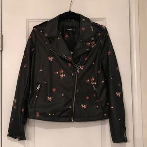 Target Who What Wear Floral Faux Leather Jacket